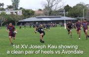 1st Xv Joseph Kau Showing A Clean Pair Of Heels Vs Avondale