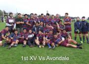 1st Xv Vs Avondale
