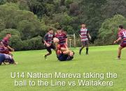 U14 Nathan Mareva Taking The Ball To The Line Vs Waitakere