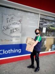 Matt Blanch Delivering Donations